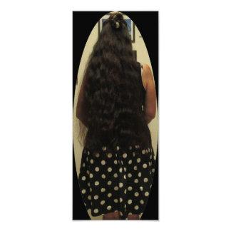 Long Hair And Polka Dot Skirt Photo Print