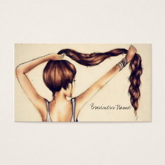 Long Hair Beauty Business Card