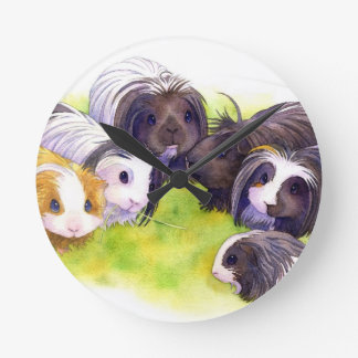 Long Hair Cavies Wallclock