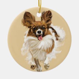 Long Hair Chihuahua Ceramic Ornament