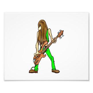 long hair guitar man musician green.png photo