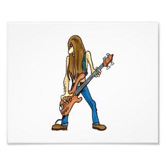 long hair guitar man musician.png photo
