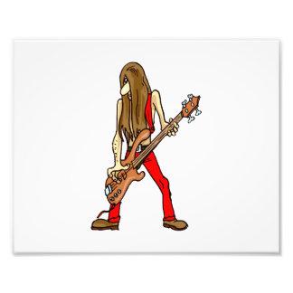 long hair guitar man musician red.png photo