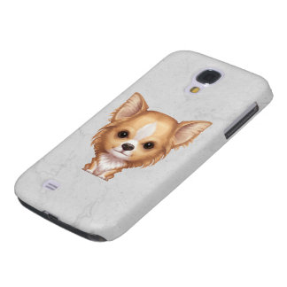 Long-Haired Beige and White Chihuahua Galaxy S4 Covers
