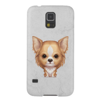 Long-Haired Beige and White Chihuahua Galaxy S5 Case