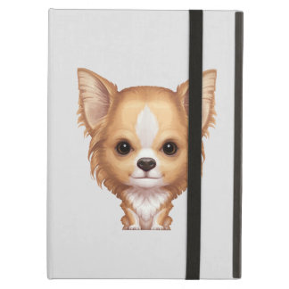 Long-Haired Beige and White Chihuahua iPad Air Cover