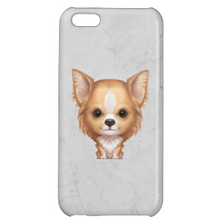 Long-Haired Beige and White Chihuahua iPhone 5C Cases
