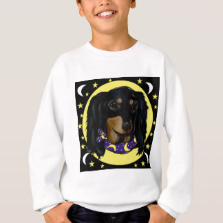 Long Haired Black Dachshund Sweatshirt