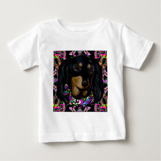 Long Haired Black Doxie Baby T-Shirt