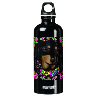Long Haired Black Doxie SIGG Traveller 0.6L Water Bottle