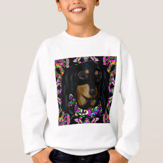 Long Haired Black Doxie Sweatshirt