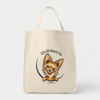 Long Haired Chihuahua IAAM Canvas Bag