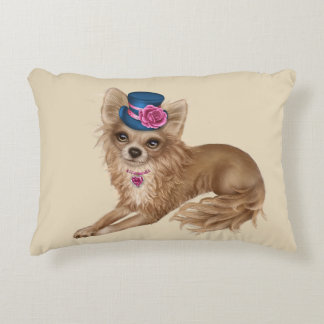 Long Haired Chihuahua Pillow