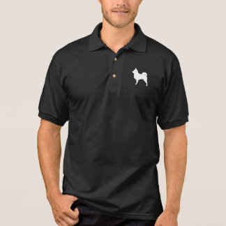 Long Haired Chihuahua Silhouette Polo Shirts