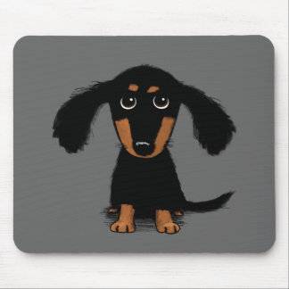 Long Haired Dachshund Puppy Mouse Pad