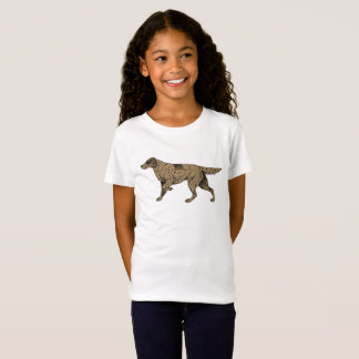 Long Haired Pointer Dog Breed Girl's T-Shirt
