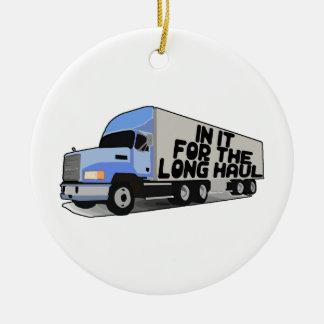 Long Haul Trucking Ceramic Ornament