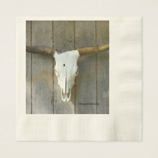 Long Horn Bull Skull Napkins Disposable Serviette