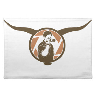 Long Horn Bull Videography Placemat