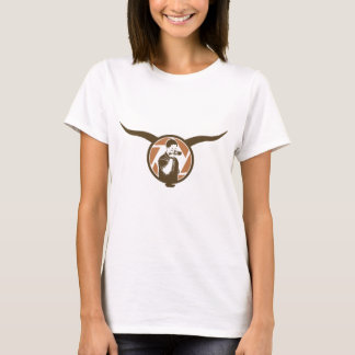 Long Horn Bull Videography T-Shirt