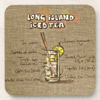 Long Island Ice Tea Cocktail Drink Coaster