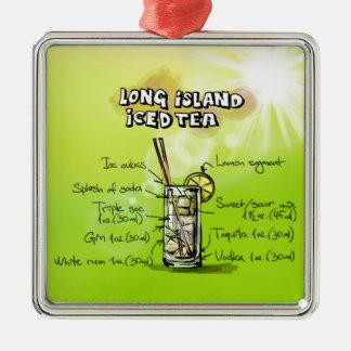 Long Island Iced Tea - Cocktail Gift Metal Ornament