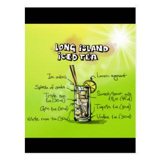 Long Island Iced Tea - Cocktail Gift Postcard