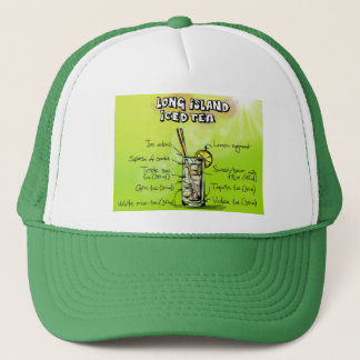 Long Island Iced Tea Drink Recipe Trucker's Hat