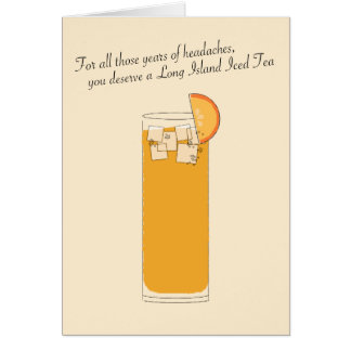 Long Island Iced Tea // Funny Father's Day Card