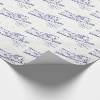 Long Island The Hamptons Map VC 2 Wrapping Paper