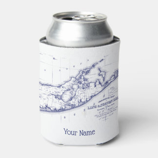 Long Island The Hamptons Map VC Can Cooler