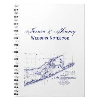 Long Island The Hamptons Map VC Notebooks