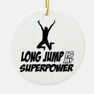 Long jump designs ceramic ornament