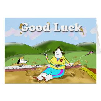 Long Jump, Good Luck Greeting Card