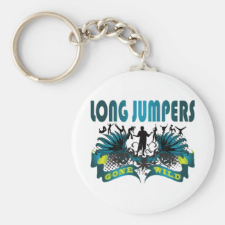 Long Jumpers Gone Wild Basic Round Button Key Ring