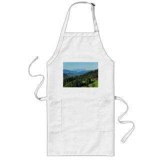 Long kitchen apron alpine panorama with Säntis