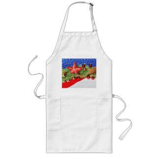 Long kitchen apron glad Christmas