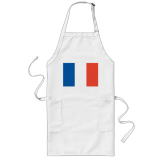 Long kitchen apron with France flag