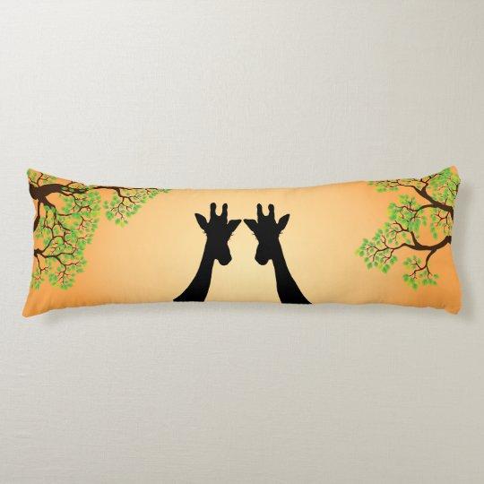 Long Lash Giraffes Body Cushion
