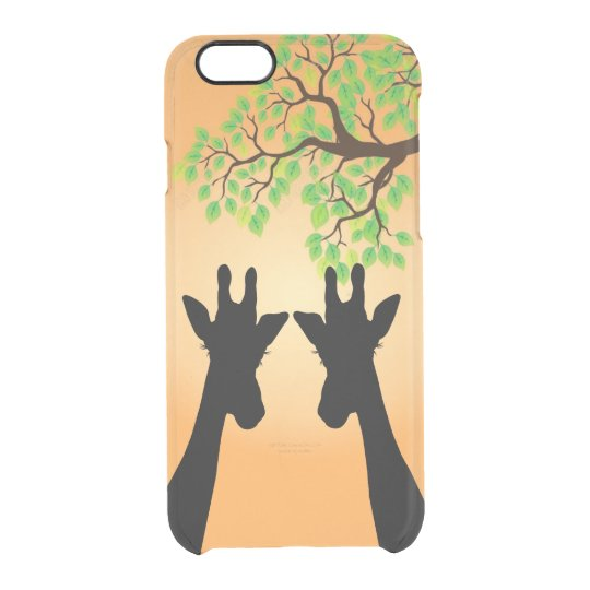 Long Lash Giraffes Clear iPhone 6/6S Case