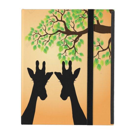 Long Lash Giraffes iPad Case