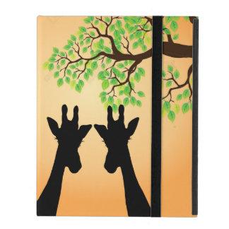 Long Lash Giraffes iPad Folio Case