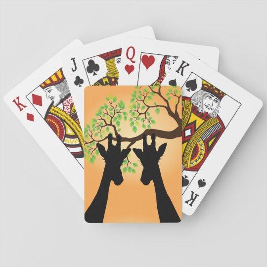 Long Lash Giraffes Playing Cards