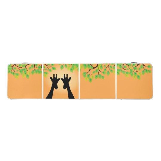 Long Lash Giraffes Pong Table