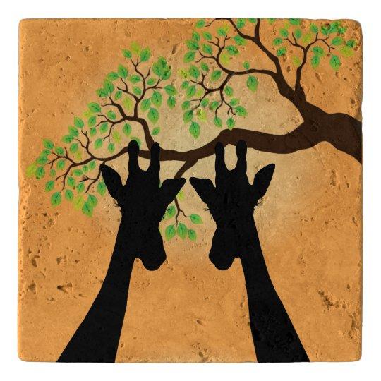 Long Lash Giraffes Trivets