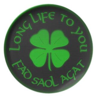 Long Life To You Irish Saying Plate