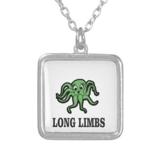 long limbs lady silver plated necklace