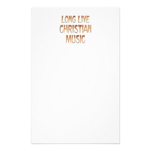 Long Live Christian Music Customized Stationery