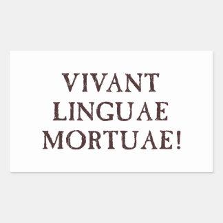 Long Live Dead Languages - Latin Rectangular Sticker