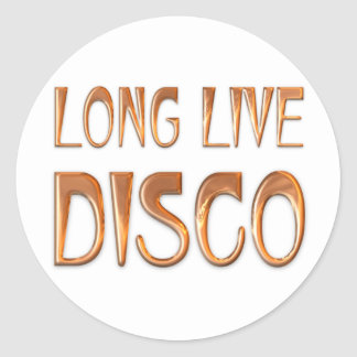 Long Live DISCO Classic Round Sticker
